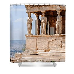 Erecthion Shower Curtain