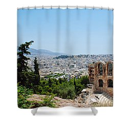 Athens From Acropolis Shower Curtain