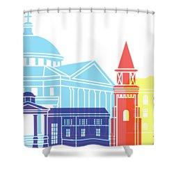 Athens Ga Skyline Pop Shower Curtain