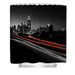 Atlanta Black And White Shower Curtain