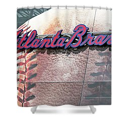 Atlanta Braves Shower Curtain by Kristin Elmquist