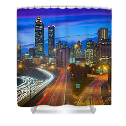Atlanta Downtown By Night Shower Curtain