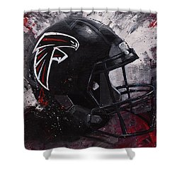Atlanta Falcons Football Wall Art Falcons Fan Gift Shower Curtain