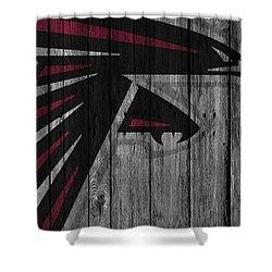 Atlanta Falcons Wood Fence Shower Curtain