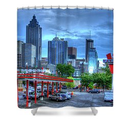 Atlanta Landmark The Varsity Art Shower Curtain