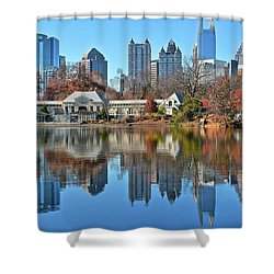 Atlanta Reflected Shower Curtain by Frozen in Time Fine Art Photography