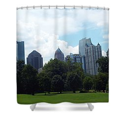 Atlanta Skyline Shower Curtain by Jake Hartz