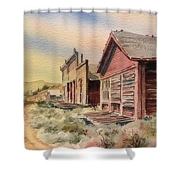 Atlantic City Ghost Town Wyoming Shower Curtain by Kevin Heaney