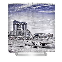 Shower Curtain featuring the photograph Atlantic City by Linda Constant