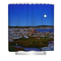 Atlantic Moon  Shower Curtain by Heather Vopni