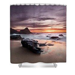 Atlantic Seashore Shower Curtain by Jorge Maia