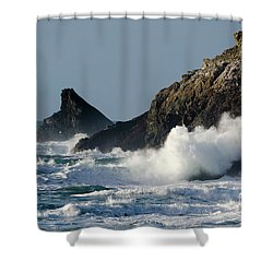 Atlantic Splash Shower Curtain by Steev Stamford