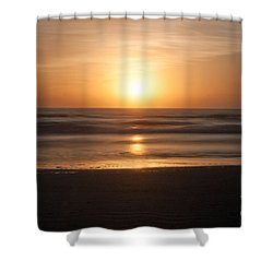 Shower Curtain featuring the photograph Atlantic Sunrise by Marion Johnson