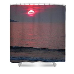 Atlantic Sunrise Shower Curtain