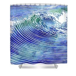 Atlantic Waves Shower Curtain