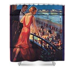 Atlantinc City - America's Great All Year Resort - Vintage Poster Folded Shower Curtain