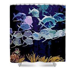 Atlantis Aquarium Shower Curtain by DigiArt Diaries by Vicky B Fuller