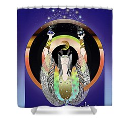 Atlantis - Copper Ring Energy Alchemy Shower Curtain