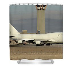 Atlas Air Boeing 747-45e-sf N473mc Phoenix Sky Harbor December 20 2015  Shower Curtain by Brian Lockett