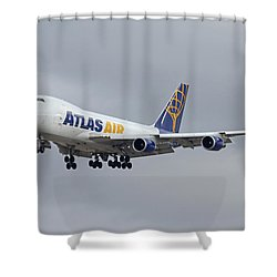 Atlas Air Boeing 747-47uf N415mc Phoenix Sky Harbor December 23 2015  Shower Curtain by Brian Lockett