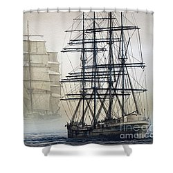 Atlas And Inverclyde Shower Curtain by James Williamson