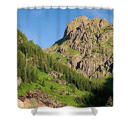 Shower Curtain featuring the photograph Atlas Mine by Steve Stuller
