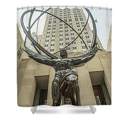 Atlas Rockefeller Center Shower Curtain by Timothy Lowry