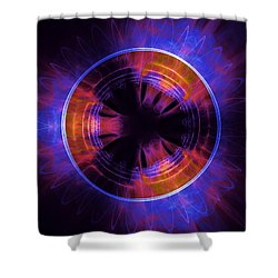 atmospheric Burner with Gas Flames Shower Curtain