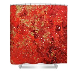 Atmospheric Red 201749 Shower Curtain by Alyse Radenovic