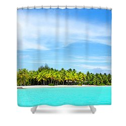 Shower Curtain featuring the photograph Atoll by Sharon Jones
