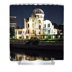 Shower Curtain featuring the photograph Atomic Dome - Symbol Of Destruction And Hope by Pravine Chester