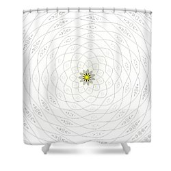 Shower Curtain featuring the photograph Atomic Lotus No. 1 by Bob Wall