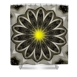 Atomic Lotus No. 2 Shower Curtain by Bob Wall