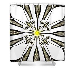 Atomic Lotus No. 3 Shower Curtain by Bob Wall