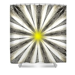 Atomic Lotus No. 4 Shower Curtain by Bob Wall