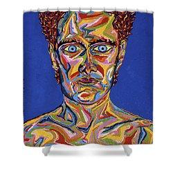 Atomic Visions - Self Portrait Shower Curtain by Robert SORENSEN