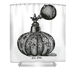 Shower Curtain featuring the digital art Atomizer by ReInVintaged