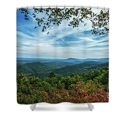 Atop The Mountain Shower Curtain
