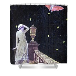 Shower Curtain featuring the mixed media Attempted Pick Up by Desiree Paquette