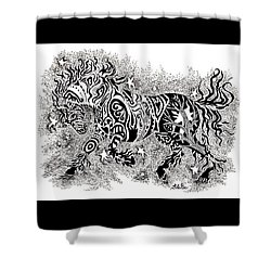 Attitude In Motion Shower Curtain