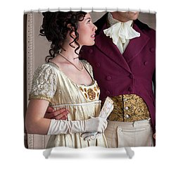 Attractive Regency Couple Shower Curtain by Lee Avison