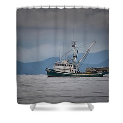 Attu Off Madrona Shower Curtain by Randy Hall