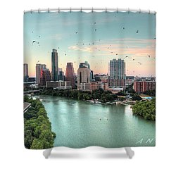 Atx Bats Shower Curtain by Andrew Nourse