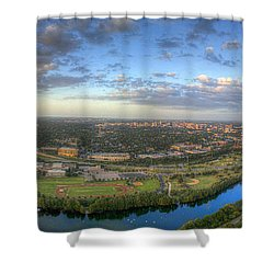 Austin Smile Shower Curtain by Andrew Nourse