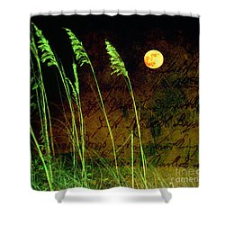 Au Claire De La Lune Shower Curtain by Susanne Van Hulst
