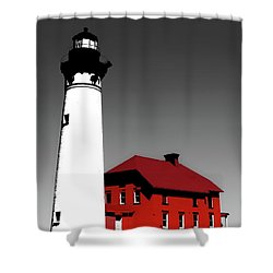 Au Sable Point Light Sc Shower Curtain by Tim Richards