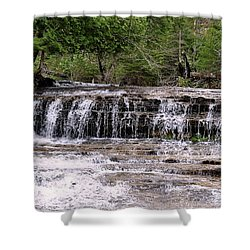 Au Train Falls Shower Curtain