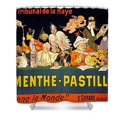 Au Tribunal De La Haye La Menthe Pastille Vintage Shower Curtain
