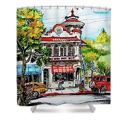 Auburn Historical Shower Curtain by Terry Banderas