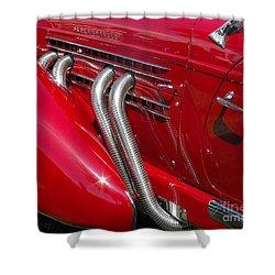 Auburn Speedster Shower Curtain